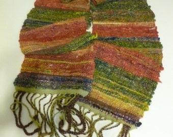 Handwoven Art Yarn Scarf