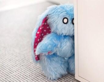 "Emo-Bunny ""Cody"" // Rabbit Plush Toy // Stars // Unique"