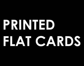 Printed Flat Cards | Invitations, Save the Dates, Birth Announcements, Backer Included