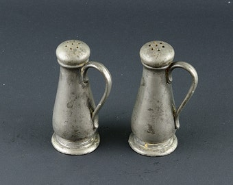 Quaker Pewter Salt and Pepper Shakers