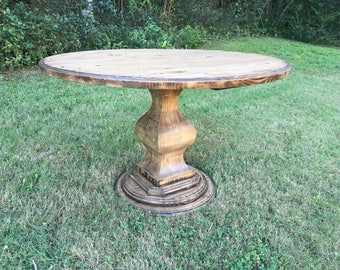 Round Baluster Pedestal Table