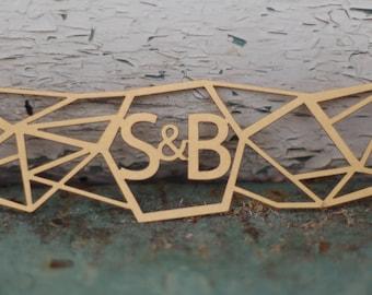 Modern Geometric Wedding Invitation Laser Cut Belly Band