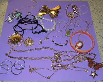 Bracelets, Necklaces, Rings, Pins, earrings and more All nice wearable Jewelry