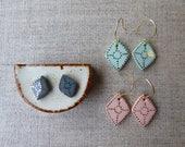 Diamond Hook Earrings...