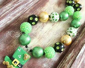Luck of the Irish chunky bead necklace