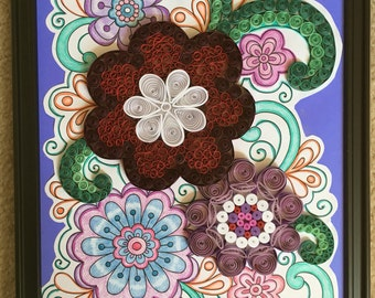 Quilled art  Quilling paper  Quilled picture