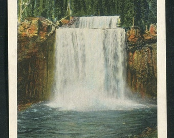 Yellowstone National Park Postcard/Colonnade Falls Bechler River  Vintage Unused