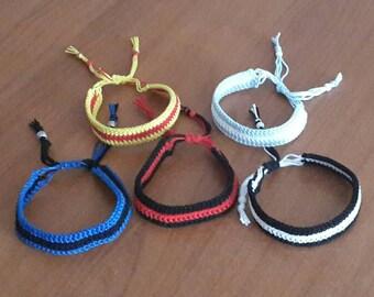 Team Bracelets Football Crochet