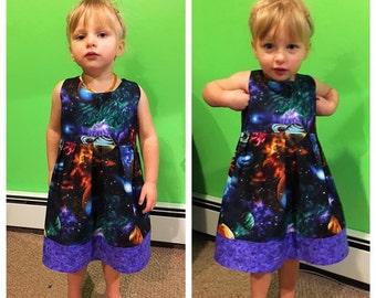 Sleeveless Galaxy Space Dress