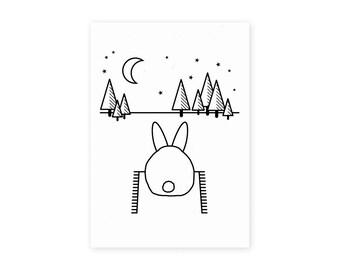 Stargazing Bun Bum Screen Print