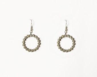 Beginnings Crystal Wavy Hoop Earrings - Silver/Clear Silver (Colour) V6MJwraQ