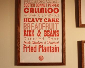 Foodie Art: Caribbean Food Poster