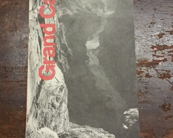 Vintage Map of the Grand Canyon, Grand Canyon National Park Arizona, 1979, Vintage Grand Canyon