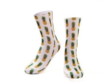 Pineapple socks.photo print socks.perth sock shop