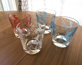 set of 4 Gazelle Glasses, Federal Glass