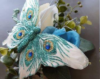Butterfly & Rose Corsage Bracelet