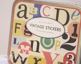 Stickers-Cavallini & Co. VINTAGE Alphabet Collection. 24 Letter sheets.