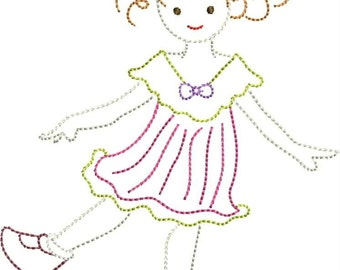 INSTANT DOWNLOAD Girly Machine Embroidery designs 3 sizes