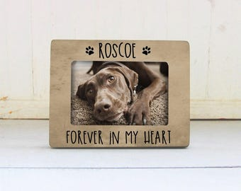 Forever In My Heart Picture Frame, Pet Memory Frame, Pet Loss Gift Idea, Loss of a Pet, Dog or Cat Memorial Gift