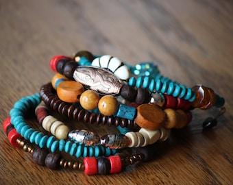 Memory wire wrap bracelet, wrap around, bracelet, Memory wire bracelet, wrap bracelet, wrap around beaded, memory wrap bracelet