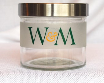William & Mary Jar, College of  William and Mary, William and Mary Gift, William and Mary Graduation Gift, Tribe,William and Mary,Grad Gifts