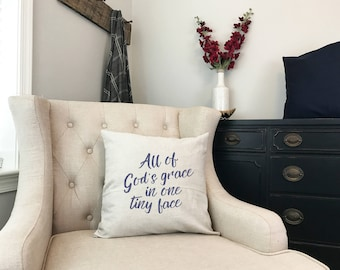 All of Gods Grace in One Tiny Face - Little Miracle Baby Gift - Worth the Wait - Gift for First Child - Christian Baby Shower Gift First Kid