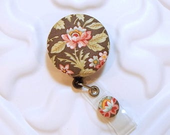 Retractable Badge Clip - Id Badge Reel - Badge Holder - Medical Badge Reel - Nurse Id Badge Holder - Flower Badge Reel