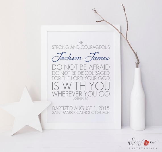 Baptism Printable Personalized Baptism Gift Baptism Prayer
