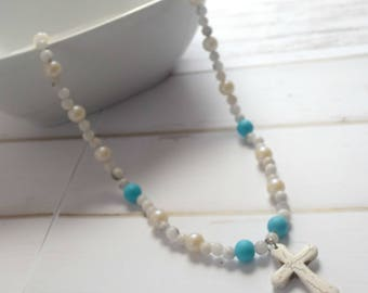 First Communion Gift, Christian Necklace, Christian Jewelry, Necklace-For-Mom, Jewelry Necklace, Bible Jewelry,