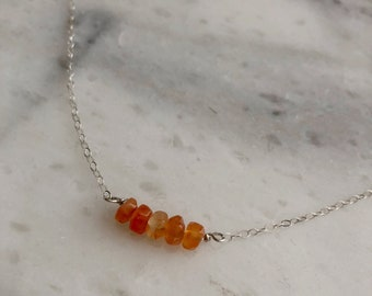 Carnelian Gemstone Choker Necklace