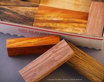 Exotic Wood Scraps - Mix - Medium