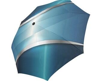Blue Umbrella Designed Umbrella Pattern Umbrella Art Umbrella Photo Umbrella Automatic Foldable Umbrella Abstract Umbrella