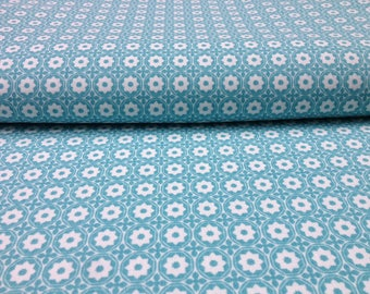 Maxi graphic coupon - fabric Oeko-Tex certified - Estérelle blue Glacier - Linna Morata