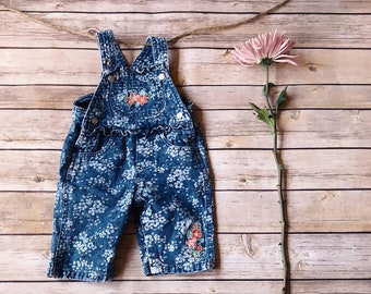 Vintage Faded Glory Baby Girl Overalls