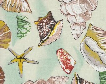 Sea Shell Green Indoor Outdoor Fabric