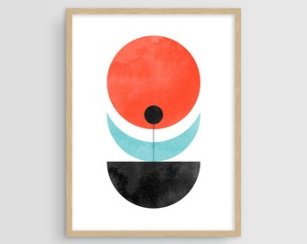 Geometric Print, Scandinavian Art, Abstract Art Print, Mid Century Wall Art, Mid Century Modern, Wall Art Print, Wall Decor, Geometric Art