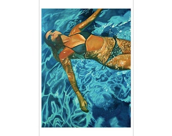 """Floating - 24"""" x 36"""" LIMITED EDITION PRINT"""