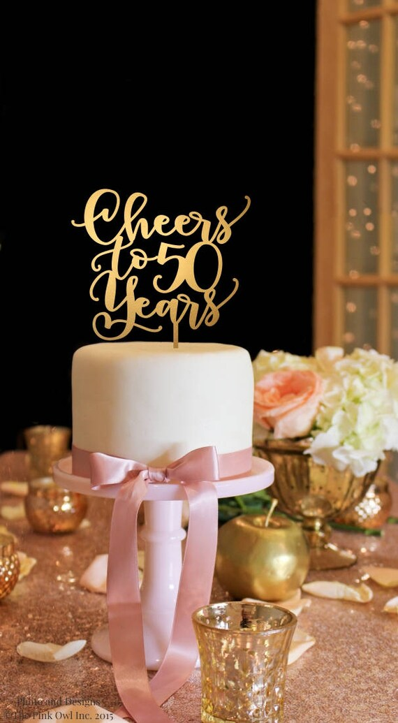 50th Anniversary Cake Topper 50th Birthday Cake Topper