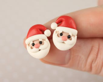 Christmas Earrings Santa Earrings Christmas kids earrings St Nicholas earring Saint Nicholas miniature Xmas Jewelry Santa Claus earring Gift