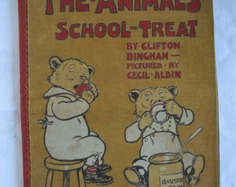 The Animal's School Treat - Dean's Rag Book - Rare Children's Book