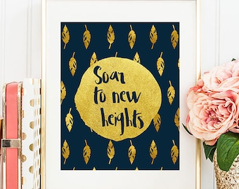Soar To New Heights - 8x10 Inspirational Print, Motivational Quote, Inspirational Quote, Printable Art