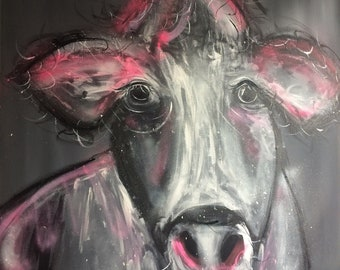 Hettie the Cow Large Painting