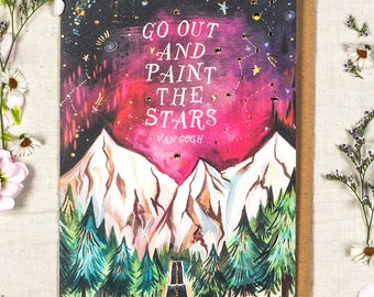 Paint the Stars - Van Gogh  - Greeting Card