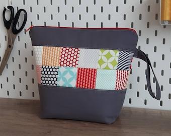 Project bag, knitting bag, Projectbag, zipper pouch, Knittingbag