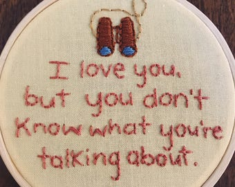 Moonrise Kingdom Embroidery Hoop Art