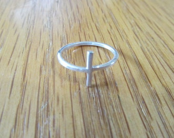 Cross Ring Sterling Silver any Size 3-13 Hand Made