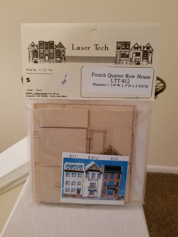 Miniature dollhouse row house kits laser tech french quarter row miniature dollhouse row house kits laser tech french quarter row house ltt 812 do it yourself miniature dollhouse kit from itsthatvintagestore on etsy solutioingenieria