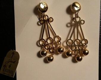 Trifari clip on earrings