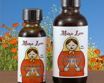 Releasing Worry, Fear, Anxiety, Organic Flower Essence Aromatherapy, Reiki-Infused for Stress Reduction, Bath, Body, Massage, Spa