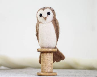 Barn Owl Needle Felting Kit, Needle Felted Animal, Felting Kit, Needle Felted Owl, Felt Animals, Felting Wool, Needle Felting Kit, DIY Kit